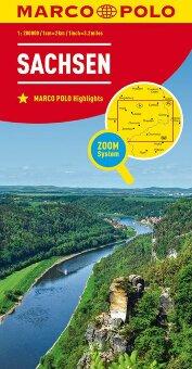 MARCO POLO Karte Deutschland Blatt 9 Sachsen 1:200 000
