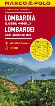 MARCO POLO Karte Italien Blatt 2 Lombardei, Oberitalienische Seen 1:200 000