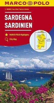 MARCO POLO Karte Italien Blatt 15 Sardinien 1:200 000
