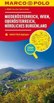 MARCO POLO Regionalkarte Österreich Blatt 1 Niederösterreich, Wien 1:200 000