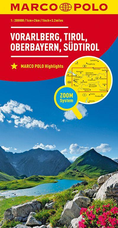 MARCO POLO Regionalkarte Österreich Blatt 3 Vorarlberg, Tirol, Oberbayern 1:200 000