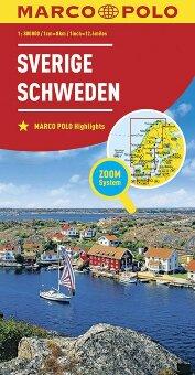 MARCO POLO Länderkarte Schweden 1:800 000