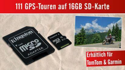 16 GB SD-Karte mit 111 GPS-Touren