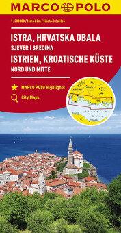 MARCO POLO Karte Istrien, Kroatische Küste 1:200 000