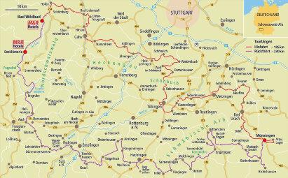 Karte Maibaum-Kontroll-Fahrt durch den Schwarzwald