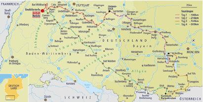 Karte Über 7 Brücken nach Garmisch zu den BMW Motorrad Days