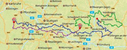 Karte Innovative Ostalb: Zwischen Tradition & Hochtechnologie