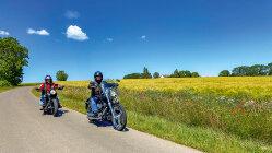 Motorradtour Mohnblüte: Rügen