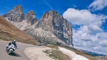 Motorradtour 21 Dolomitenpässe an einem Tag