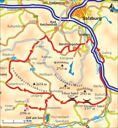 Karte Rund um den Watzmann
