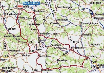 Karte Nördlinger Ries
