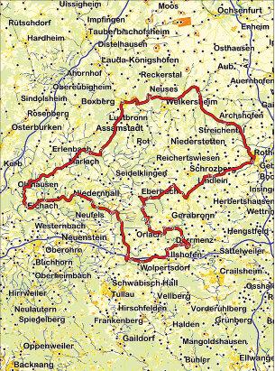 Karte Romantisches Deutschland