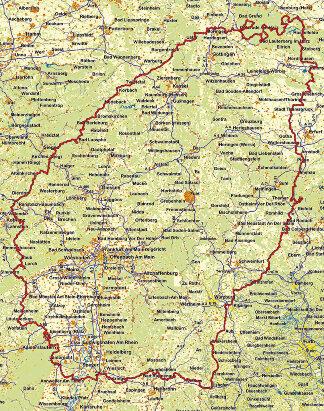 Karte Ab durch die Mitte - M&R Deutschlandtour