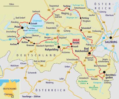 Karte Chiemgau - Bayerisches Meer